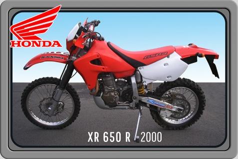 Honda XR 650R 2000 motorrad, motor bike, motorcycle blechschild