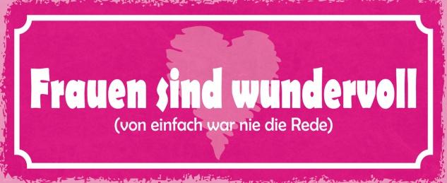 Blechschild Spruch Frauen sind wundervoll Metallschild 27x10 Deko tin sign