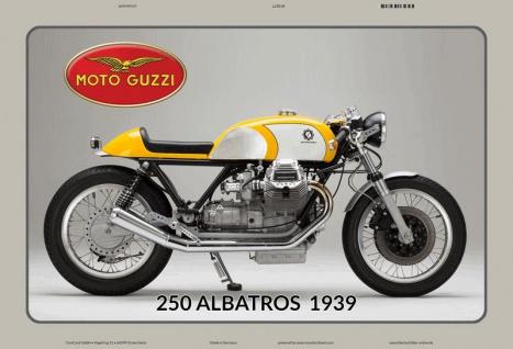 Moto Guzzi 250 Albatross 1939 motorrad blechschild