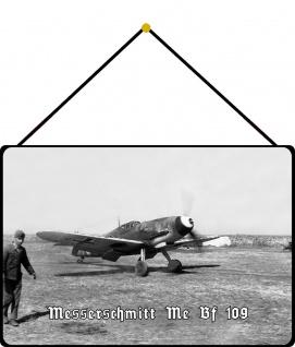 Blechschild Messerschmidt Me Bf 109 Metallschild Wanddeko 20x30 mit Kordel