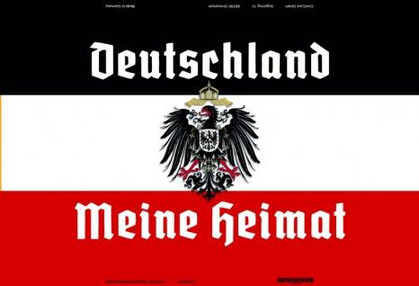 Deutschland Meine Heimat reichsfahne flagge adler blechschild