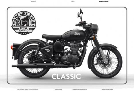 Royal Enfield Classic motorrad seit 1901 blechschild