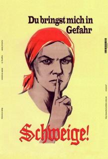 Schweige! Du bringst mich in Gefahr DDR ostalgie blechschild