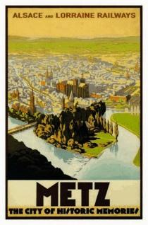Nostalgie: Metz - City of historic Memories Blechschild 20x30 cm