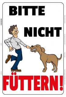 Blechschild Bitte nicht füttern! (Hund) Metallschild Wanddeko 20x30 tin sign