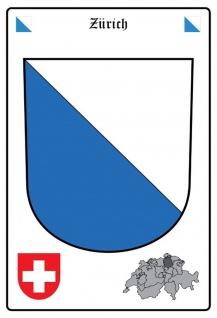 Blechschild Zürich Wappen Metallschild Wanddeko 20x30 cm tin sign