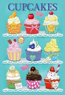 Cupcakes Fairy Cakes Muffins Metallschild Wanddeko 20x30 cm tin sign