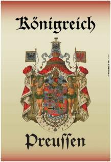 Königreich Preussen wappen, blechschild