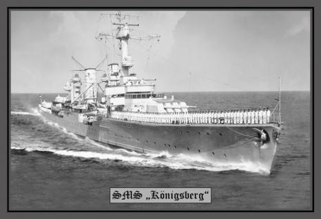 SMS Königsberg kriegschiff boot blechschild