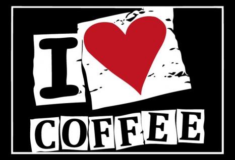 I love coffee ich liebe kaffee blechschild