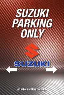 Suzuki Parking only blechschild, parkschild, tin sign, metallschild, deko,
