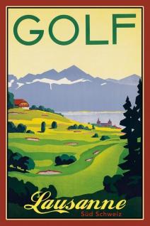 Schatzmix Blechschild Golf Lausanne Schweiz Metallschild 20x30 cm Wanddeko tin sign