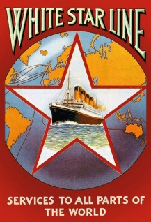 Retro: White Star Line Metallschild Wanddeko 20x30 cm tin sign