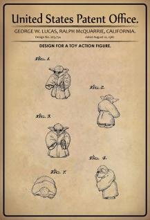 Blechschild Patent Entwurf für Aktionfigur Spielzeug Metallschild Wanddeko 20x30 cm tin sign