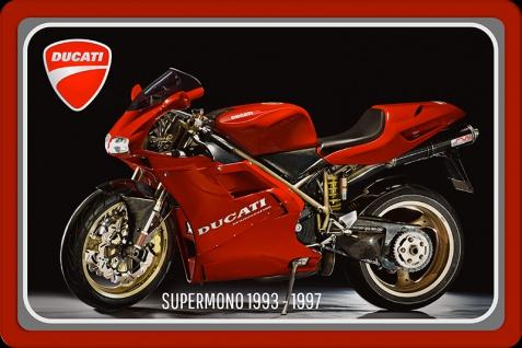 Ducati Supermono 1993-1997 75PS motorrad, motor bike, motorcycle blechschild