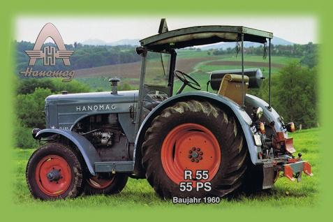 Hanomag R55 55PS 1960 tracktor trekker blechschild