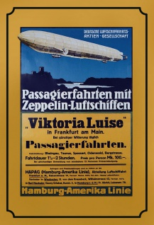 Blechschild Nostalgie Zeppelin Passagierfahrten Metallschild Wanddeko 20x30 cm tin sign