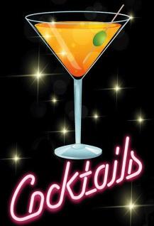 Blechschild Alkohol Cocktails Metallschild Wanddeko 20x30 cm tin sign