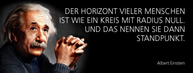 Blechschild Spruch Der Horizont vieler Menschen ist wie ein Kreis mit Radius null. Und das nennen sie dann Standpunkt. -Einstein- Metallschild 27x10 cm Wanddeko tin sign