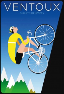 Blechschild Ventoux Summit 1.912 Meters (per Fahrrad) Metallschild Wanddeko 20x30cm tin sign