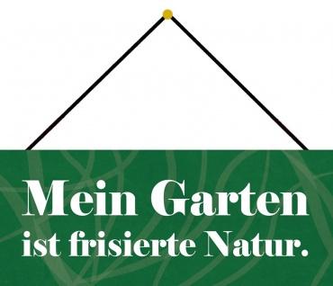 Schatzmix Blechschild Mein Garten frisierte Natur Metallschild Wanddeko 27x10cm mit Kordel