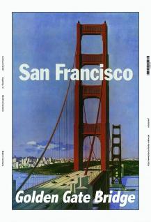 San Francisco Golden Gate Bridge blechschild