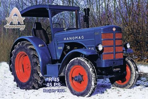 Hanomag R45 1954 tracktor trekker blechschild