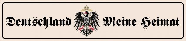 Deutschland Meine Heimat Straßenschild mit Adler Blechschild 46x10cm