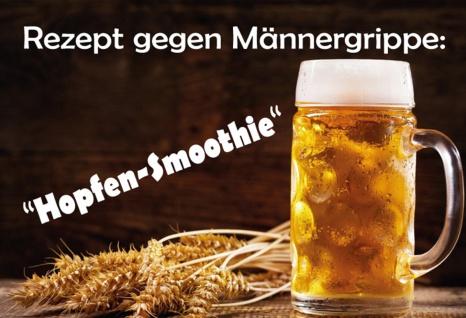 Blechschild Spruch Rezept gegen Männergrippe Metallschild Wanddeko 20x30 cm tin sign