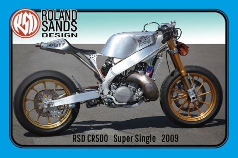Roland Sands CR500 Super Single 2009 60PS motorrad, motor bike, motorcycle blechschild
