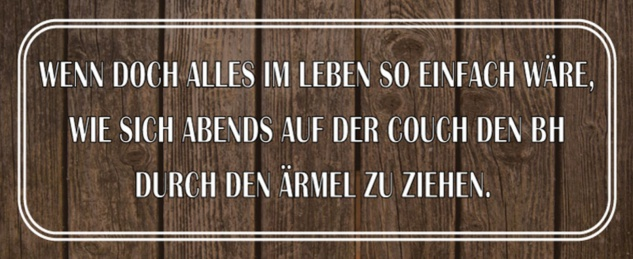 Blechschild Spruch Leben so einfach Couch Metallschild 27x10 cm Wanddeko tin sign
