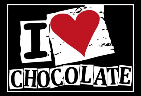 I Love Chocolate Metallschild Wanddeko 20x30 cm tin sign