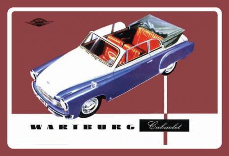 Wartburg Cabriolet oldtimer auto blechschild