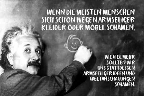 Blechschild Spruch Wenn die Menschen sich schon Einstein Metallschild Wanddeko 20x30 cm tin sign