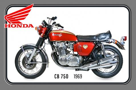 Honda CB750 1969 67PS motorrad, motor bike, motorcycle blechschild