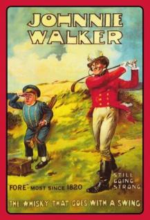 Johnnie Walker golf swing whisky blechschild