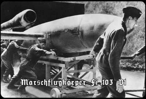 Blechschild Marschflugkörper Fi 103 V1 Metallschild Wanddeko 20x30 tin sign