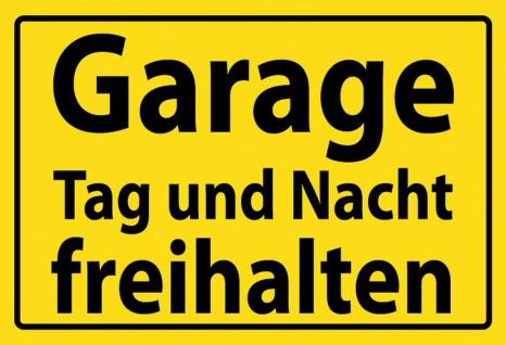 Hinweisschild: Garage Tag und Nacht freihalten Metallschild Wanddeko 20x30 cm tin sign