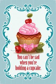 Blechschild Cupcake You can't be sad Retro Metallschild Deko 20x30cm tin sign