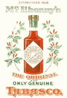 Tabasco Sauce original 1868 blechschild