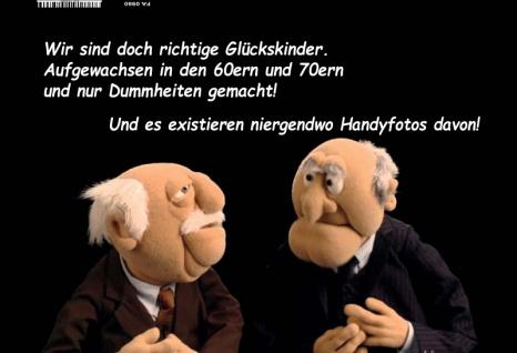Waldorf und Statler Muppets wir sind doch richtige Glückskinder.. Lustige spruch blechschild