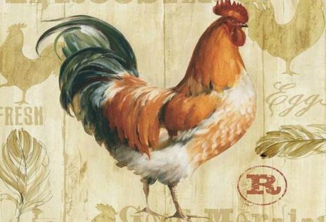 Nostalgie: Huhn - Fresh Eggs Blechschild 20x30 cm
