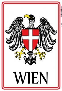 Wien stadtwappen adler Österreich Austria blechschild