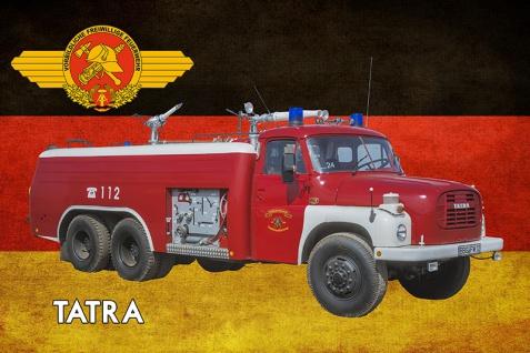 Blechschild Freiwilliges Feuerwehr Tatra DDR Metallschild Wanddeko 20x30 cm tin sign
