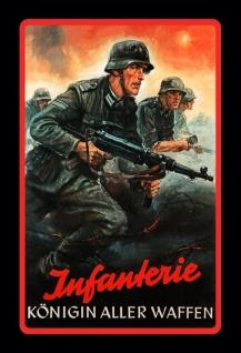 Infanterie Königin Aller Waffen wehrmacht bundeswehr soldat blechschild