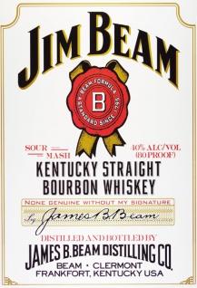 jim beam whiskey kentucky straight bourbon flasche etikett. Black Bedroom Furniture Sets. Home Design Ideas