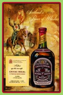 Chivas regal scotch whisky reklame nostalgie blechschild