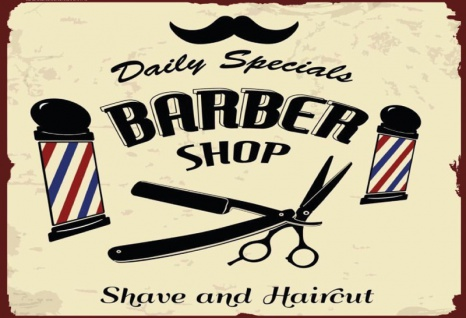 Barber Shop Daily Specials Shave and Haircut blechschild