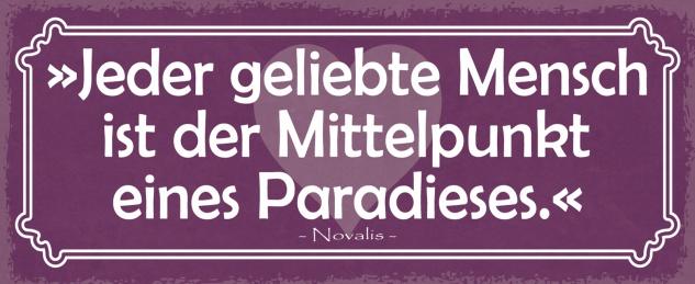 Blechschild Spruch Jeder geliebte Mensch Metallschild Wanddeko 27x10 cm tin sign