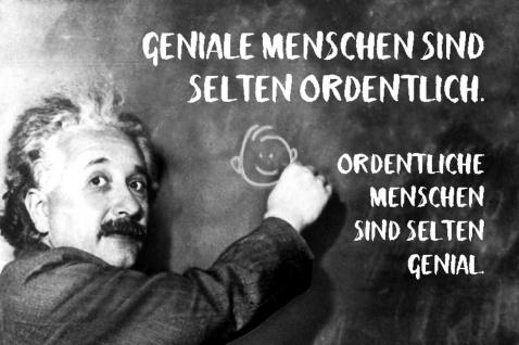 Blechschild Spruch Geniale Menschen sind Einstein Metallschild Wanddeko 20x30 cm tin sign